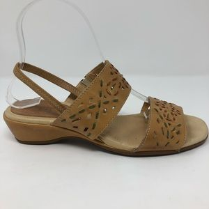 PIKOLINOS Shoes - Pikolinos Sandals 38 7.5 Tan Leather Comfort Shoes